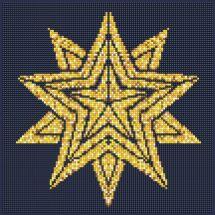 Kit ricamo diamante - Diamond Art - Stella