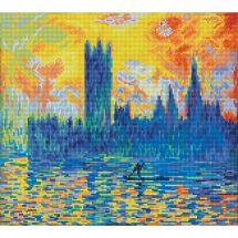 Kit ricamo diamante - Diamond Dotz - Il parlamento di Londra in inverno secondo Monet