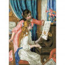 Kit ricamo diamante - Diamond Dotz - Ragazze al pianoforte dopo Renoir