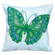 Kit cuscino ricamo diamante - Diamond Dotz - Cuscino da ricamare farfalle verde