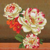 Kit cuscino ricamo diamante - Diamond Dotz - Bouquet di rose e camelie 1