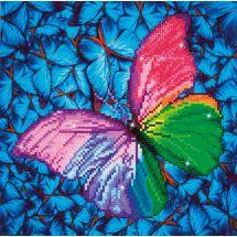 Kit ricamo diamante - Diamond Dotz - Farfalla rosa