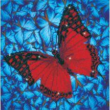 Kit ricamo diamante - Diamond Dotz - Farfalla rossa