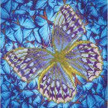 Kit ricamo diamante - Diamond Dotz - Farfalla argentata