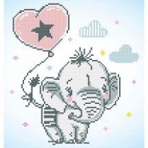 Kit ricamo diamante - Diamond Dotz - Cucciolo di elefante