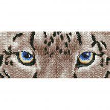 Kit ricamo diamante - Diamond Dotz - Leopardo delle nevi spia
