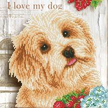 Kit ricamo diamante - Diamond Dotz - Amo il mio cane