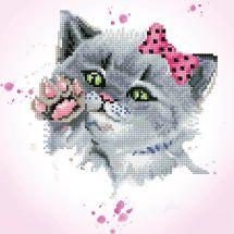 Kit ricamo diamante - Diamond Dotz - Occhio di gatto spia