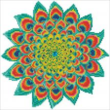 Kit ricamo diamante - Diamond Dotz - Mandala pavone