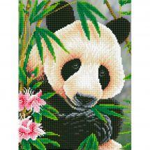 Kit ricamo diamante - Diamond Dotz - Principe panda