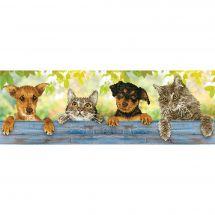 Kit ricamo diamante - Diamond Dotz - Amici cani e gatti