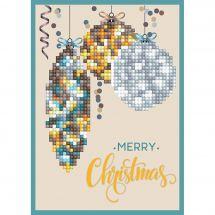 Carta con ricamo a diamante - Diamond Dotz - Decorazione di Buon Natale