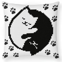 Kit cuscino ricamo diamante - Diamond Dotz - Bagliore di gatto