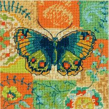 Kit di canovaccio unifilo - Dimensions - Disegno farfalla