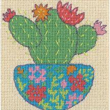 Kit di canovaccio unifilo - Dimensions - Cactus felice