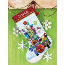 Kit calza di Natale da ricamare - Dimensions - Side car