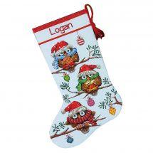 Kit calza di Natale da ricamare - Dimensions - Civetta
