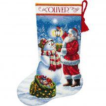 Kit calza di Natale da ricamare - Dimensions - I bagliori feste