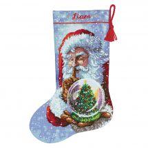 Kit calza di Natale da ricamare - Dimensions - Babbo natale