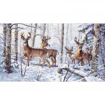 Kit Punto Croce - Dimensions - L 'inverno dei cervi