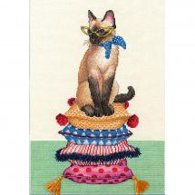 Kit Punto Croce - Dimensions - Donna dei gatti