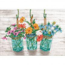 Kit Punto Croce - Dimensions - Vasi di fioritura