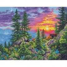 Kit Punto Croce - Dimensions - Sentiero di montagna al tramonto