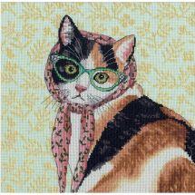 Kit Punto Croce - Dimensions - Mamma gatto