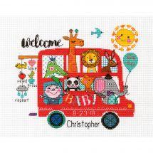 Kit Punto Croce - Dimensions - Registro di nascita - Bambino a bordo
