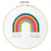 Kit per ricamo a tamburo - Dimensions - Bellissimo arcobaleno