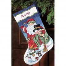 Kit calza di Natale da ricamare - Dimensions - uomo