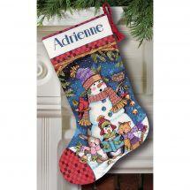 Kit calza di Natale da ricamare - Dimensions - Cantanti