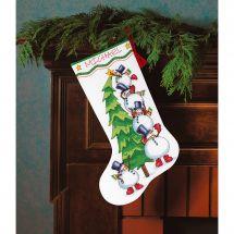 Kit calza di Natale da ricamare - Dimensions - Pino