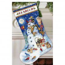 Kit calza di Natale da ricamare - Dimensions - Pupazzo di neve