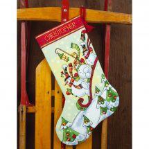 Kit calza di Natale da ricamare - Dimensions - Slitta