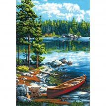 Kit di pittura per numero - Dimensions - Canoa sul lago
