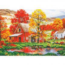 Kit di pittura per numero - Dimensions - Amici d'autunno