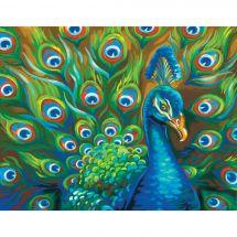 Kit di pittura per numero - Dimensions - Piume selvatiche