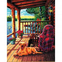 Kit di pittura per numero - Dimensions - Portico di una cabina