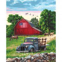 Kit di pittura per numero - Dimensions - Una fattoria in estate