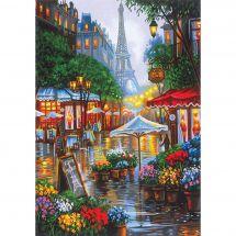 Kit di pittura per numero - Dimensions - Primavera a Parigi