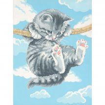 Kit di pittura per numero - Dimensions - Tieniti forte, gattina.