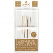 Aghi da ricamo - DMC - Aghi d'oro con arazzo a mano n°7-8-9