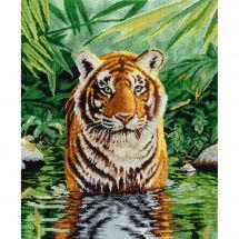 Kit Punto Croce - DMC - Il bagno della tigre