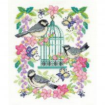 Kit Punto Croce - DMC - Gabbia agli uccelli