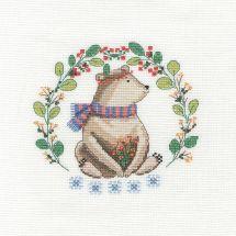 Kit punto croce con tamburo - DMC - Un orso così carino