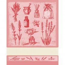Straccio da ricamare - DMC - Erbe aromatiche - Rosso