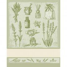 Straccio da ricamare - DMC - Erbe aromatiche - Verde