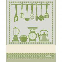 Straccio da ricamare - DMC - Cucina - Verde