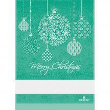Straccio da ricamare - DMC - Baubles di Natale - Verde